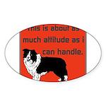 OYOOS Dog Attitude design Sticker (Oval 50 pk)