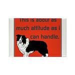 OYOOS Dog Attitude design Rectangle Magnet (10 pac