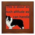 OYOOS Dog Attitude design Framed Tile