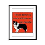 OYOOS Dog Attitude design Framed Panel Print