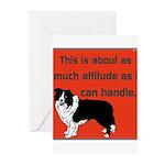 OYOOS Dog Attitude design Greeting Cards (Pk of 10