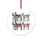 OYOOS Zebra design Ornament (Round)