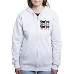 OYOOS Zebra design Women's Zip Hoodie