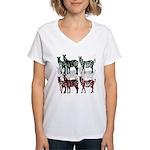 OYOOS Zebra design Women's V-Neck T-Shirt