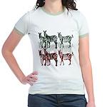 OYOOS Zebra design Jr. Ringer T-Shirt