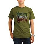 OYOOS Zebra design Organic Men's T-Shirt (dark)
