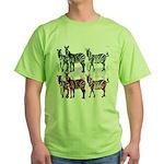 OYOOS Zebra design Green T-Shirt