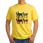 OYOOS Zebra design Yellow T-Shirt