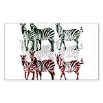 OYOOS Zebra design Sticker (Rectangle 50 pk)