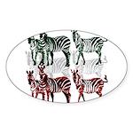 OYOOS Zebra design Sticker (Oval 10 pk)