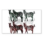 OYOOS Zebra design Sticker (Rectangle)