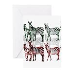 OYOOS Zebra design Greeting Cards (Pk of 20)