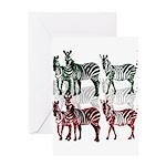 OYOOS Zebra design Greeting Card
