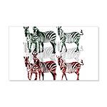 OYOOS Zebra design 20x12 Wall Decal