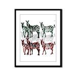 OYOOS Zebra design Framed Panel Print