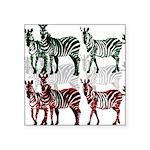 OYOOS Zebra design Square Sticker 3