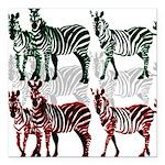 OYOOS Zebra design Square Car Magnet 3
