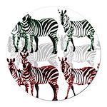OYOOS Zebra design Round Car Magnet