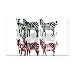 OYOOS Zebra design Rectangle Car Magnet