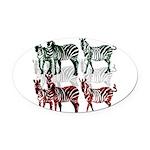 OYOOS Zebra design Oval Car Magnet