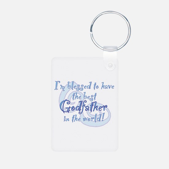 Blessed Godfather BL Aluminum Photo Keychain