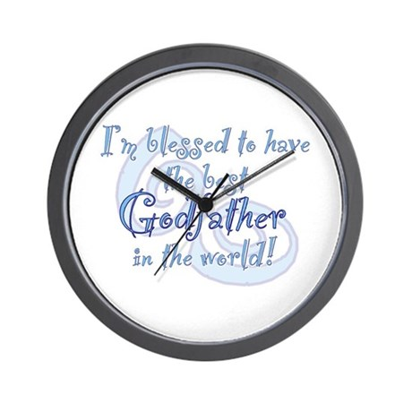 Blessed Godfather Bl Wall Clock By Davetdesigns