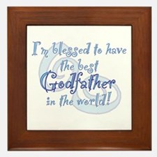Blessed Godfather BL Framed Tile