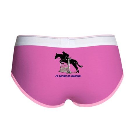 Id Rather Be Jumping Horse Women's Boy Brief