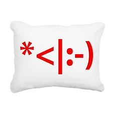 Christmas Elf Emoticon S Rectangular Canvas Pillow