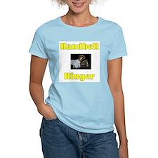 Handbell Ringer Women's Pink T-Shirt