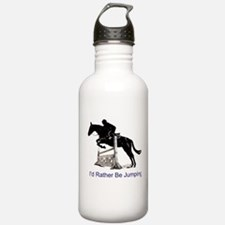 Id Rather Be Jumping Horse Water Bottle