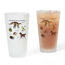 New Jersey State Animals Drinking Glass