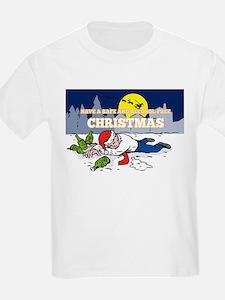 Drunk Man Wearing Santa Hat T-Shirt