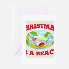 Santa Claus Father Christmas Beach Relaxing Greeti