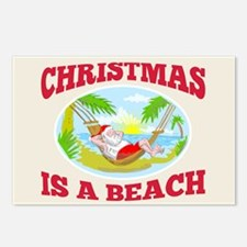Santa Claus Father Christmas Beach Relaxing Postca