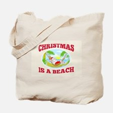 Santa Claus Father Christmas Beach Relaxing Tote B