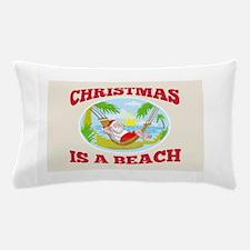 Santa Claus Father Christmas Beach Relaxing Pillow