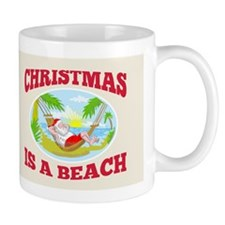 Santa Claus Father Christmas Beach Relaxing Mug