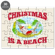 Santa Claus Father Christmas Beach Relaxing Puzzle