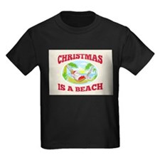 Santa Claus Father Christmas Beach Relaxing T