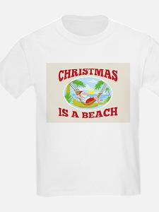 Santa Claus Father Christmas Beach Relaxing T-Shirt