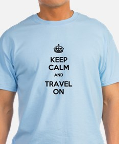 Keep Calm Travel On T-Shirt