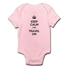 Keep Calm Travel On Infant Bodysuit