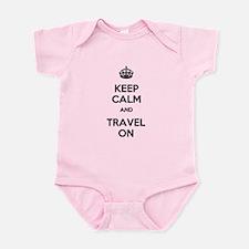 Keep Calm Travel On Infant Bodysuit