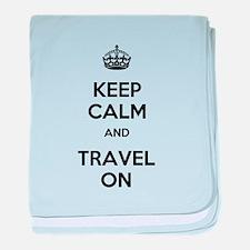 Keep Calm Travel On baby blanket