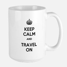 Keep Calm Travel On Mug