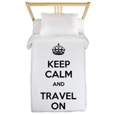 Keep Calm Travel On Twin Duvet