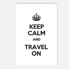 Keep Calm Travel On Postcards (Package of 8)