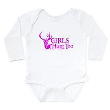 GIRLS HUNT TOO Long Sleeve Infant Bodysuit