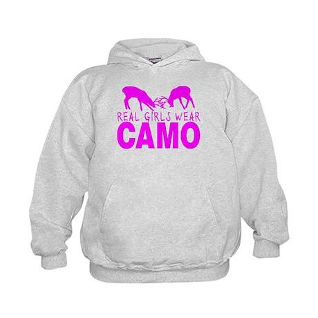 REAL GIRLS WEAR CAMO Kids Hoodie